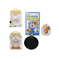 ez-eggsノンスティックFry Pan with (ブルー) withエッグタイマー、Egg Slicer And Egg Poacherバンドル