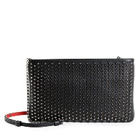 Christian Louboutin(クリスチャンルブタン) LOUBIPOSH NV CLUTCH CALF PARIS 1165013 SPIKES スパイク スタッズ装飾 チェーン バッグ...