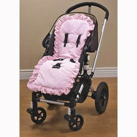 Baby Doll Bedding Heavenly Soft Minky Stroller Covers, Pink by BabyDoll Bedding