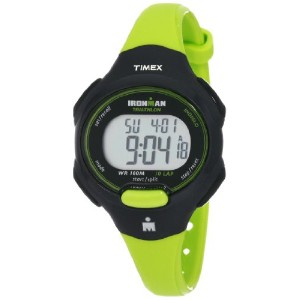 タイメックス レディース 腕時計 Timex Women's T5K527 Ironman Traditional 10-Lap Bright Green Resin Strap Watch