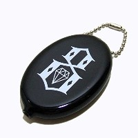 REBEL8(レベルエイト) ラバー コインケース LOGO Quikoin Oval Coin Pouch