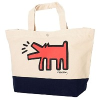 KEITH HARING キースへリング トートバッグ カバン キャンバス ドッグ (KH-TOTE-03) O/S Dog