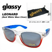 GLASSY(グラッシー)/サングラス/LEONARDO [Red-White-Blue clear]