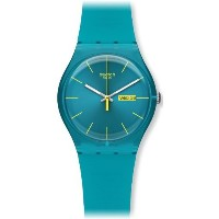 Swatch スウォッチ メンズ 腕時計 Men's SUOL700 Quartz Turquoise Dial Measures Seconds Plastic Watch