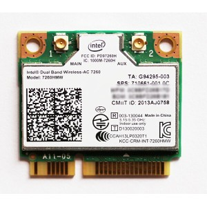 Intel Dual Band Wireless-AC 7260 802.11ac対応 最大リング867Mbps 2.4/5GHZ+ Bluetooth 4.0内蔵無線Lanカード