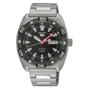 Seiko 5 Sports Automatic Black Bezel Gents SRP285J1【並行輸入】