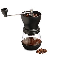 Kabalo Manual Coffee Bean Grinder & Nut/Spice with Ceramic Burr, Glass Jar Classic Kitchen Tool...