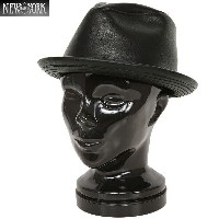 10%OFFクーポン対象品!New York Hat/ニューヨークハット 9204 LAMBSKIN FEDORA レザーハット《WIP》 ミリタリー 男性 ギフト プレゼント