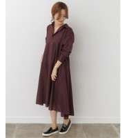 DOORS mizuiro-ind flared long shirt one-piece【アーバンリサーチ/URBAN RESEARCH レディス ワンピース 別注red ルミネ LUMINE】