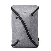 niid-uno I撥水スリムバックパックグレーwith USB充電ポートFits up to 15.6インチ、リュックサックビジネスバッグDaypack for Workingカレッジ旅行...