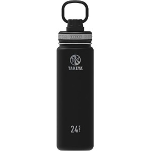 Takeya ThermoFlask Insulated Stainless Steel Water Bottle, 14 oz, Asphalt by Takeya