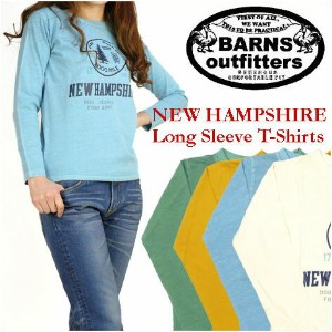 nrab (ナーブ) / BARNS(バーンズ) Lady's -長袖Tシャツ/NEW HAMPSHIRE- BR-5154F 【smtb-k】【ky】プレゼント ギフト