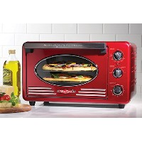 Nostalgia RTOV220RETRORED Retro Series 6-Slice Convection Toaster Oven by Nostalgia