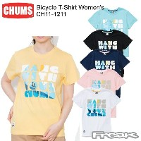 CHUMS チャムス CH11-1211 Bicycle T-Shirt Women's バイセコーTシャツ  ※取り寄せ品