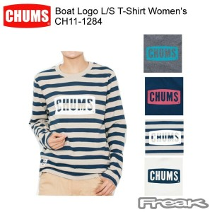 CHUMS チャムス LS Tシャツ CH11-1284 Boat Logo L/S T-Shirt Women's ボートロゴ長袖Tシャツ ※取り寄せ品