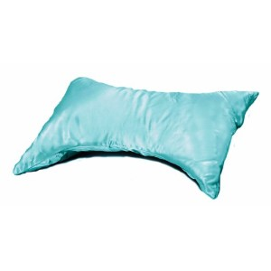 Essential Medical Supply E-Z Sleep Butterfly Pillow with Blue Satin Cover by Essential Medical...
