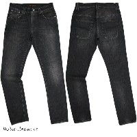【SALE】30%OFF★Nudie Jeans co /ヌーディージーンズ TAPE TED (テープテッド) 10,5oz WASHED STRETCH ORGANIC COTTONBLACK...