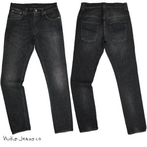 Nudie Jeans co /ヌーディージーンズ TAPE TED (テープテッド) 10,5oz WASHED STRETCH ORGANIC COTTONBLACK EMBO STITCH...