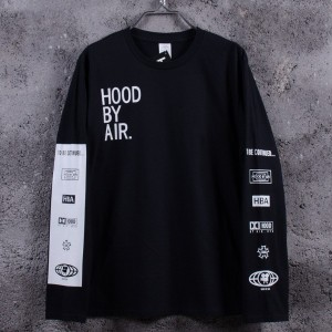 New 2017 Men Hood By Air Long Sleeve Tee Shirts Man Hba Hip Hop T-shirts Been Trill Printed Tshirts...