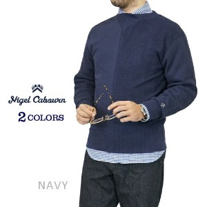 NIGEL CABOURN ナイジェル・ケーボン ARMY CREW JERSEY MIX 2 COLORS MAIN LINE