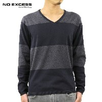 【25%OFFセール 9/15 10:00~9/19 9:59】 ノーエクセス NO EXCESS 正規販売店 メンズ Vネックセーター BOADER V NECK SWEATER 230954...