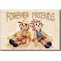 Raggedy Ann and Andy冷蔵庫マグネット: Forever Friends : 3 x 2