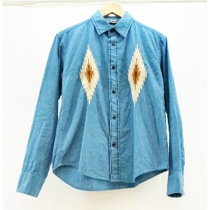 Cutrate (カットレイト) NATIVE ENBROIDERY CHAMBRAY SHIRT サイズ:M カラー:ブルー【中古】【ルード】【鈴鹿 併売品】【1274625OS】