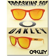 US 並行輸入 OAKLEY サングラス オークリー 野球 Sunglass FROGSKINS 359【Aquatique Collection】 Hotsport/Fire Iridium ...