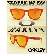 US 並行輸入 OAKLEY サングラス オークリー 野球 Sunglass FROGSKINS 344【Summit Collection】 Mesa Orange/Fire Iridium ...
