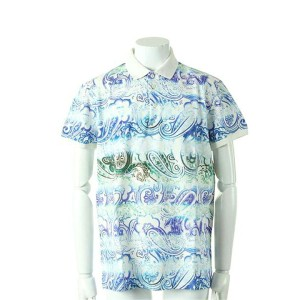 【CLEARANCE-SALE 30%OFF 38,880円→27,216円】 ETRO エトロ POLO STAMPATA STRETC ポロシャツ{-ACS}{PS30}
