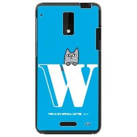 【送料無料】 letter&cat ブルー W (クリア) design by PansonWorks / for HTC J ISW13HT/au 【SECOND SKIN】au isw13ht...