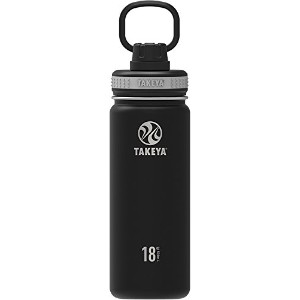 Takeya ThermoFlask Insulated Stainless Steel Water Bottle, 24 oz, Asphalt by Takeya
