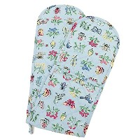 キャスキッドソン ミトン CATH KIDSTON 713979 DOUBLE OVEN GLOVE COLLECTORS PRINT WARM GREY 青 [並行輸入品]