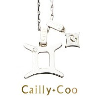 ★CaillyCoo【カイリークー】星座ネックレス 双子座(ふたご座)(シルバー925 ダイヤモンド イニシャル ネックレス DT アルファベットネックレス レディース ギフト プレゼント 誕生日...