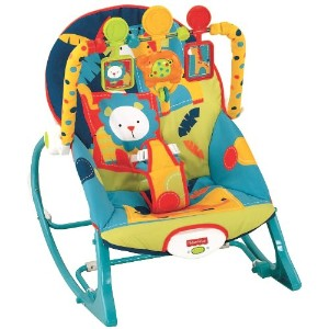 Fisher-Price フィッシャープライス ゆりかご Infant To Toddler Rocker, Dark Safari