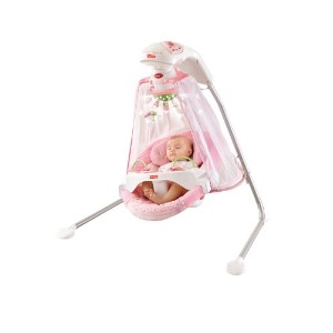Fisher-Price フィッシャープライス Papasan Cradle Swing, Butterfly Garden