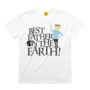BEST FATHER ON THE EARH父の日 プレゼント Tシャツ おもしろtシャツ 誕生日プレゼント 女性 男性 女友達 おもしろ Tシャツ プレゼント ギフト GIFTEE