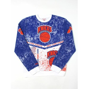 【SALE】MITCHELL & NESS IN THE STANDS CREW KNICKS【253F-318-ANYKIH-BLUE】