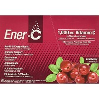 海外直送品Ener-C Vitamin C Effervescent Drink Mix, Cranberry 30 Count (Pack of 30)
