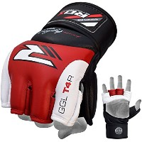RDX カウ ハイド レザー Grappling MMA グローブ UFC Cage Fighting Sparring Glove Training T4R (海外取寄せ品)