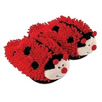 Aroma Home Fuzzy Friends暖かい冬キッズスリッパLady Bug