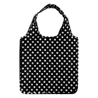 ケイトスペード エコバッグ Le Pavillion Reusable Shopping Tote(black white dots) kate spade【並行輸入品】