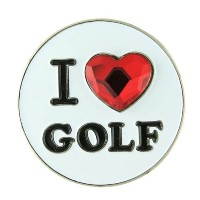 Bonjoc Ladies I Heart Golf Ball Markers【ゴルフ レディース>ボールマーカー】