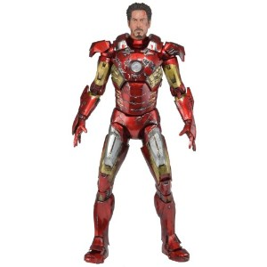 NECA アベンジャーズ アイアンマン フィギュア Avengers Battle Damaged Iron Man Action Figure, 1/4 Scale