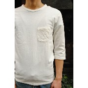 BARNS OUTFITTERS バーンズ アウトフィッターズ 吊り編み天竺 丸胴 ポケット 7分袖 クルーネック Tシャツ LOOP WHEEL CREW NECK QUARTER SLEEVE...