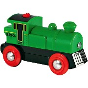 BRIO ブリオ 木製 レール バッテリーパワー機関車(緑) 木のおもちゃ 電車 子供 3歳 4歳 5歳 誕生日プレゼント ...