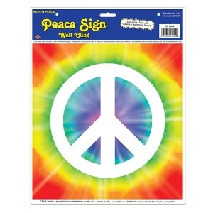 Peace Sign Peel ' N Place Party Accessory ( 1Count ) ( 1/ Sh)