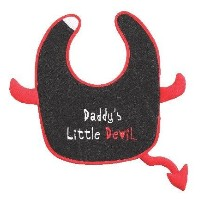 Daddy's Little Devil Bib by Ganz