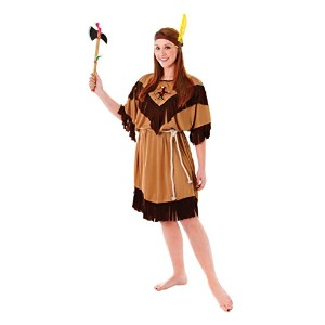 Indian Lady. Plus Size. (Adult Costumes) Female UK Size 18 22 - Brown