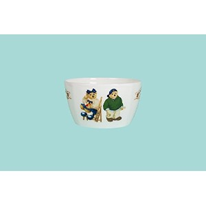 Teddy Bear Cereal Bowl – グリーンとブルー